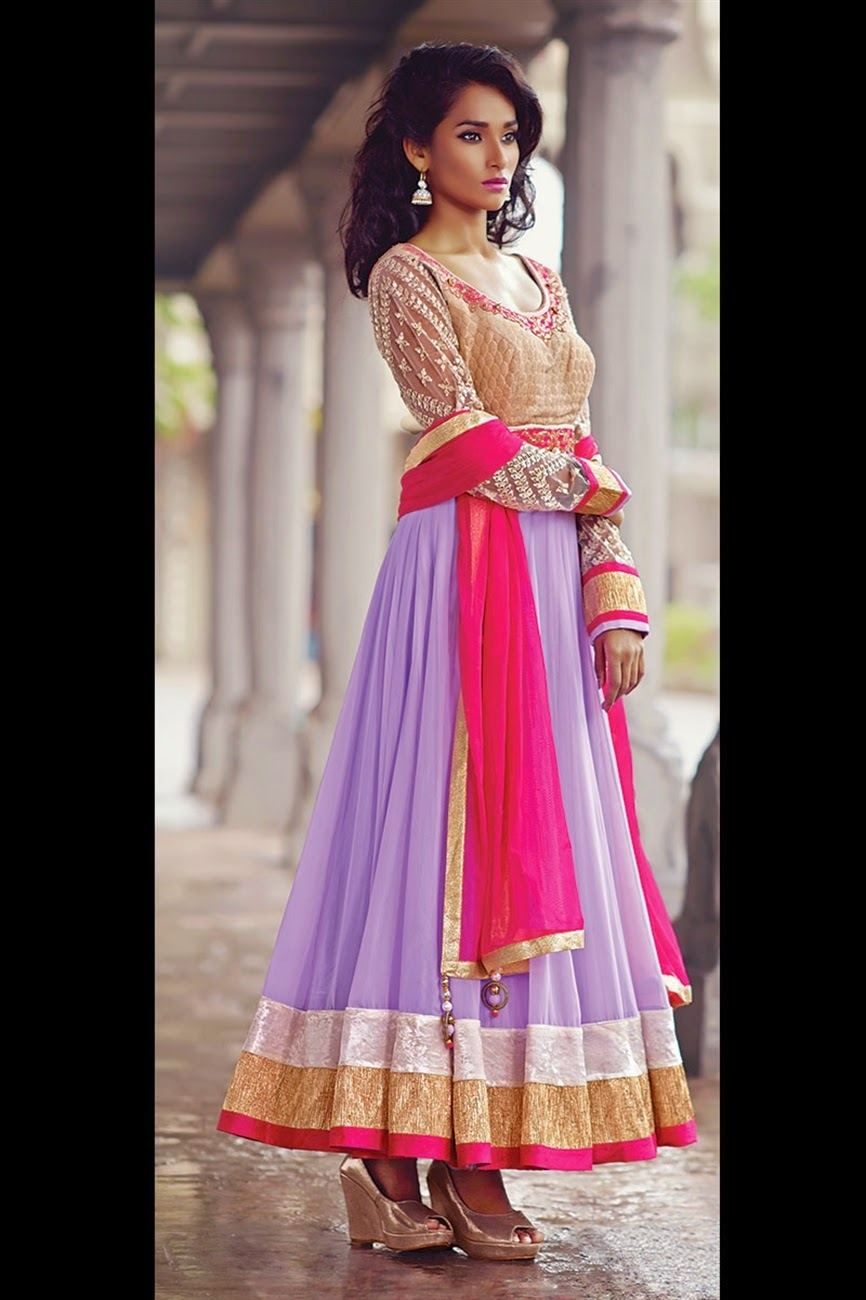 Exclusive Embroidery Work Ankle Length Anarkali Suit
