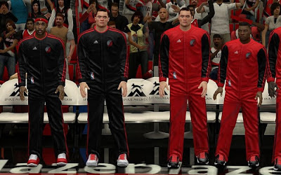 NBA 2K13 Portland Trail Blazers Warmup Uniforms Mods