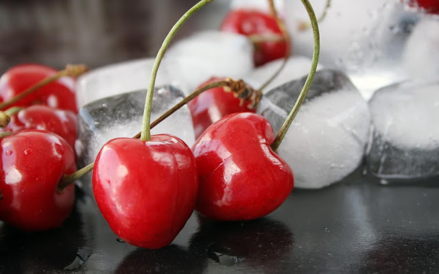 Cherries Ice Cubes