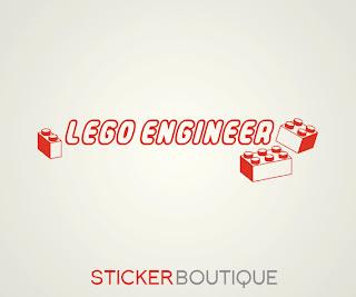 Lego Engineer wall sticker