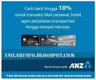 ANZ, Cash Back Hingga 10 Persen Untuk Transaksi Tiket Pesawat, Hotel Dan Banyak Lainnya