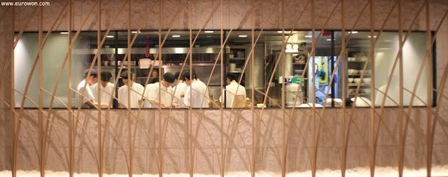 Cocineros del restaurante Crystal Jade de Hong Kong
