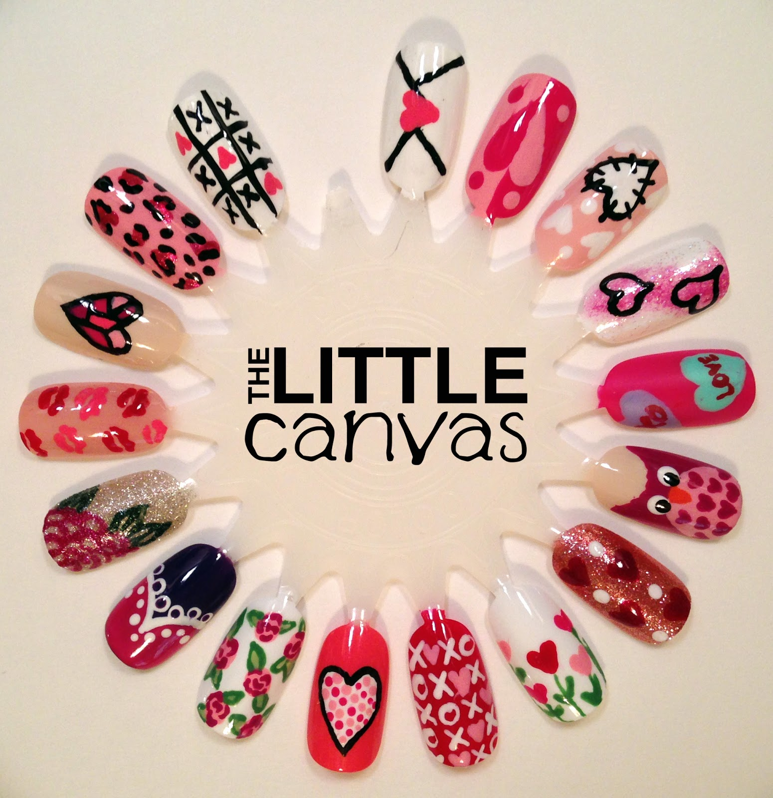 Valentines Day Nail Art Wheel - The Little Canvas