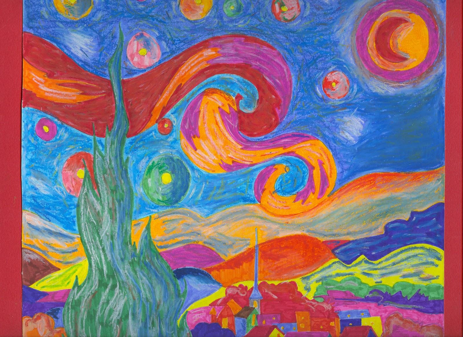 Sotto le stelle con van gogh artisticascuola for Dipinto di van gogh notte stellata