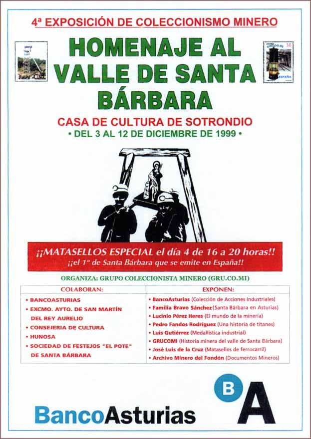 Cartel de la exposición de Grucomi en Sotrondio y Santa Bárbara