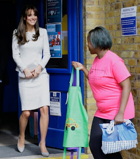 Kate Middleton meets inmates at a women's prison in Working, Surrey