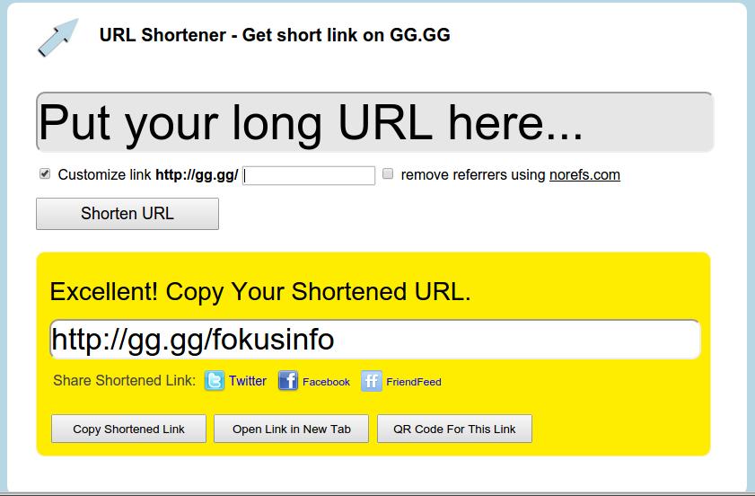 Gg.gg Shortener