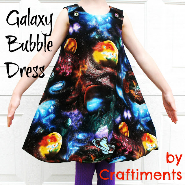 Craftiments:  Galaxy Bubble Dress
