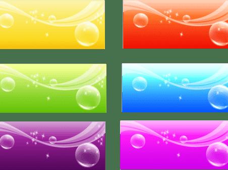 Color Banner Background