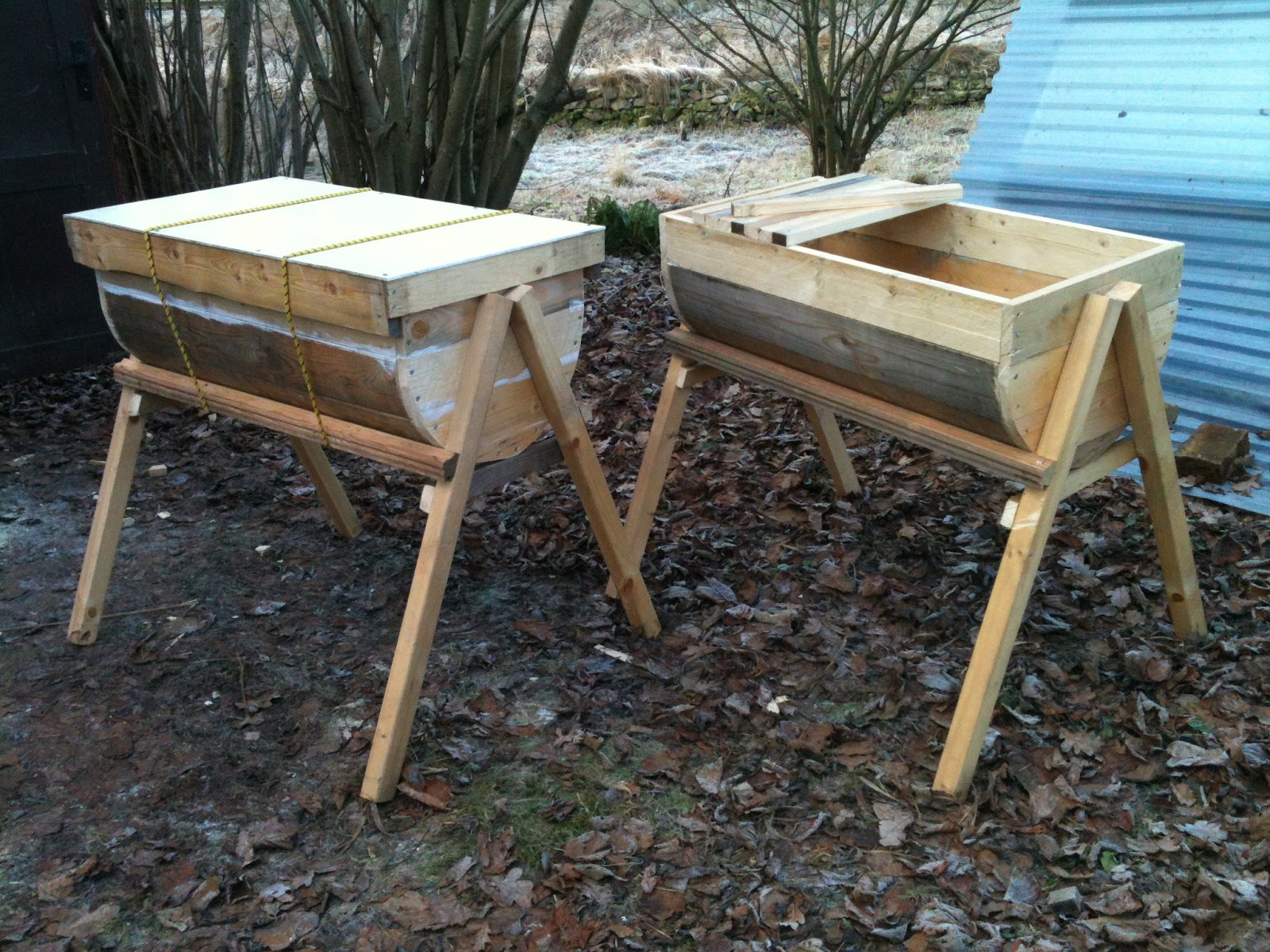 Canu0027t Wait To Introduce Colonies Next Year Into These Twin Drum Top Bar  Hives :)