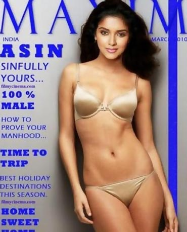 Asin in Silver Bikini for maxim