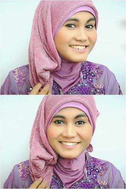 Tutorial Hijab Gliter Dengan Kebaya Cara Memakai Jilbab | New Style ...