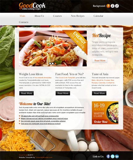 GoodCook Free CSS3 Template