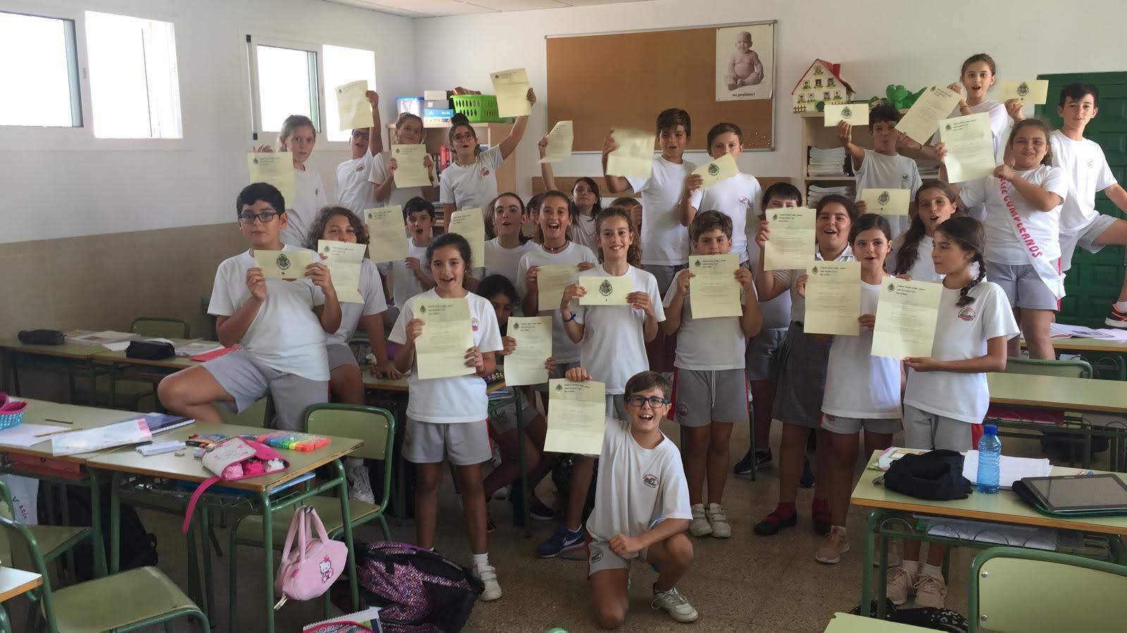 Los alumnos de la clase de 6º A
