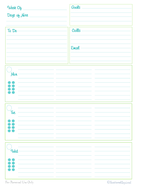 free printable planner home management binder