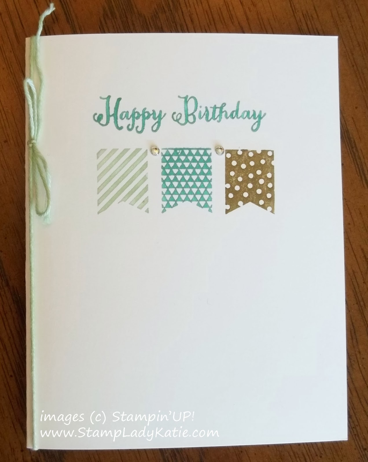 Birthday card made with Stampin'UP! Banner Blast Stamp Set