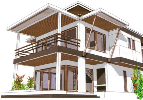 desain rumah lantai 2 on Desain Rumah Minimalis 2 Lantai