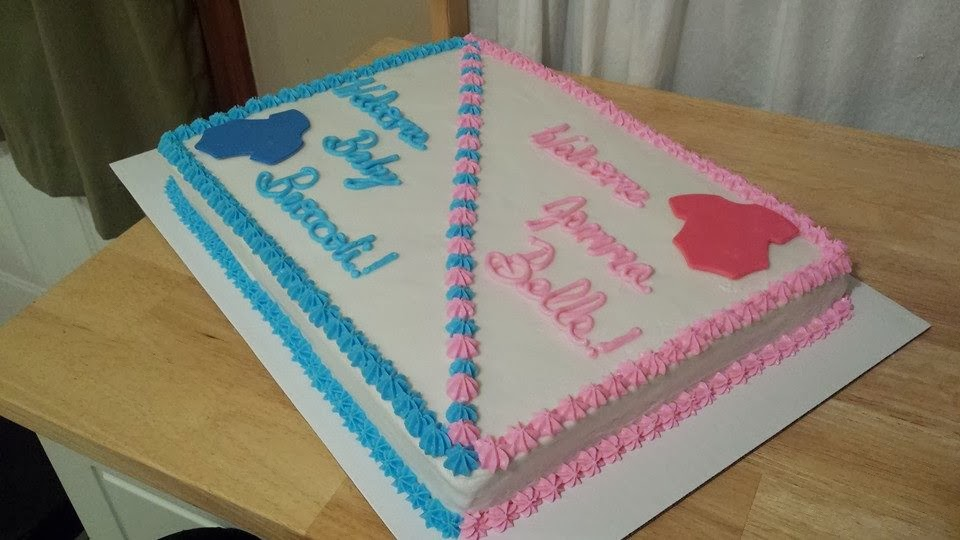 the cake is an 11x15 sheet vanilla cake with sweet buttercream i