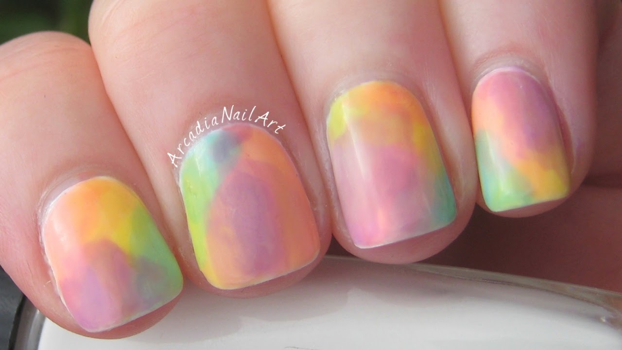 Watercolour Nail Art OPI Sheer Tints DIY