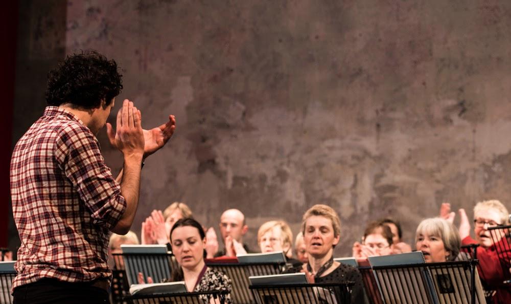 New London Chamber Choir and Matthew Hamilton in rehearsal - photo credit Andrew Moss