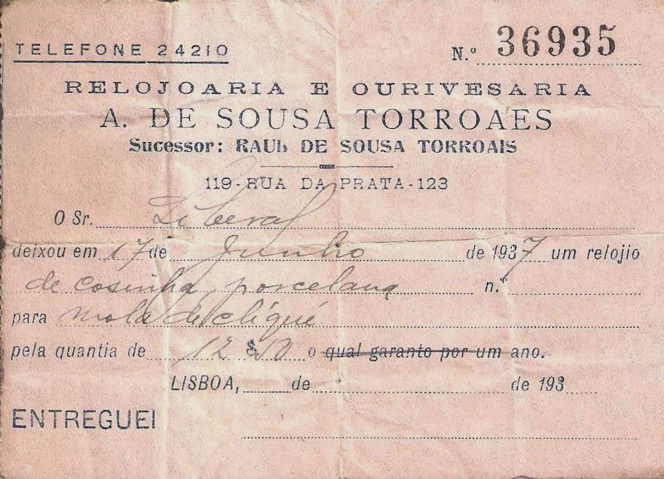 5c4e89f1856 Estação Cronográfica  Relojoaria e Ourivesaria Torroaes