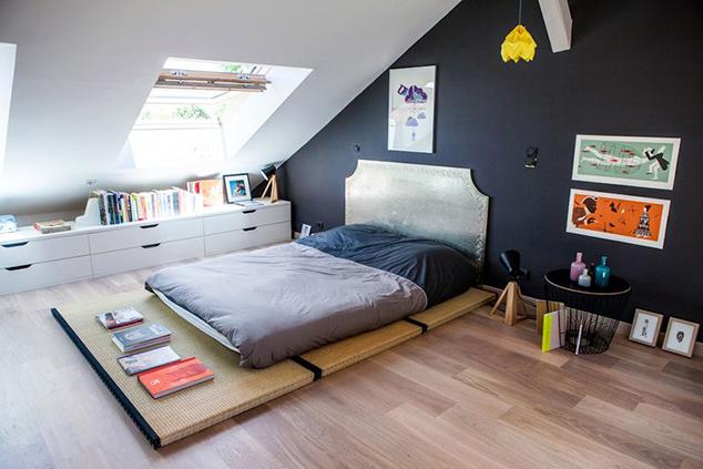 De lunares y naranjas mi rcoles de arquitectura una buhardilla para ni os y mayores - Dormitorios en buhardillas ...