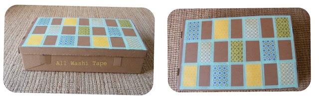 caja patchwork con washi tape