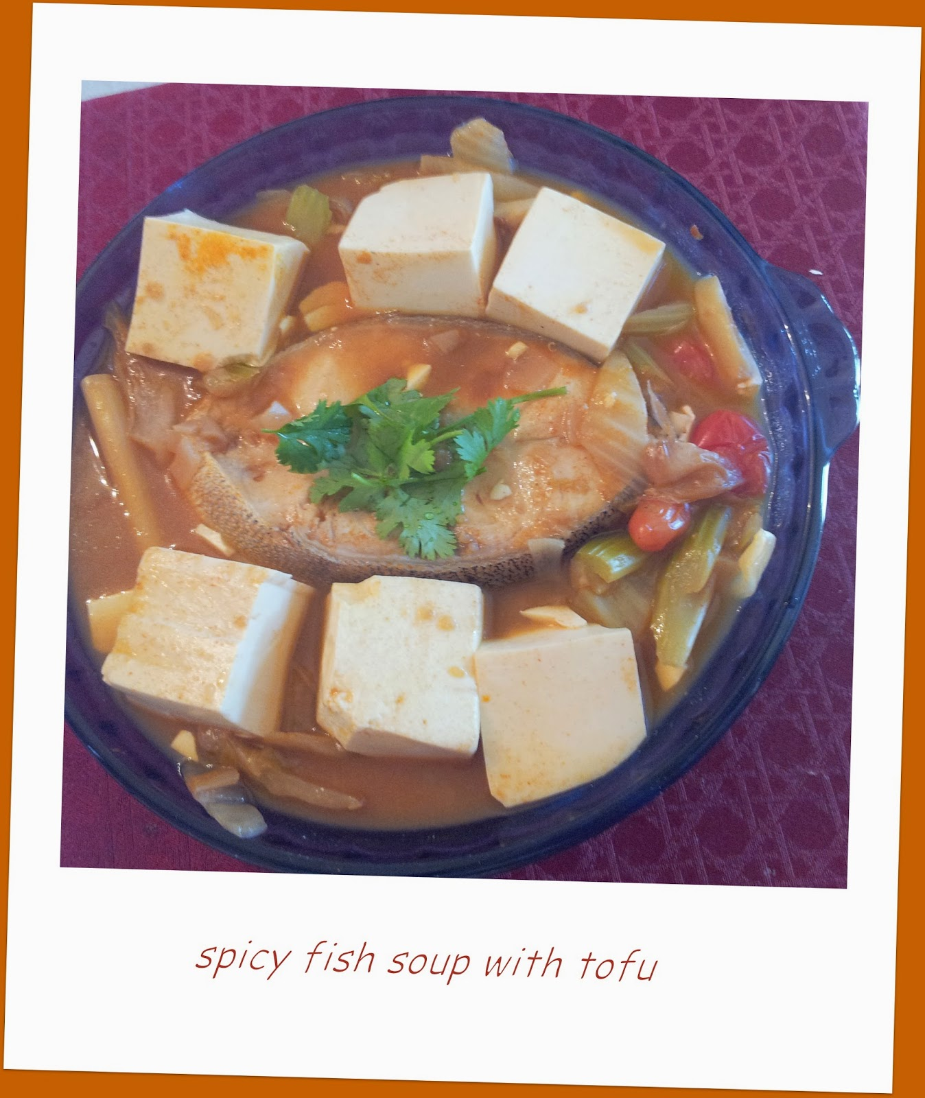 Little bellevue kitchen spicy fish soup with tofu for Spicy fish soup