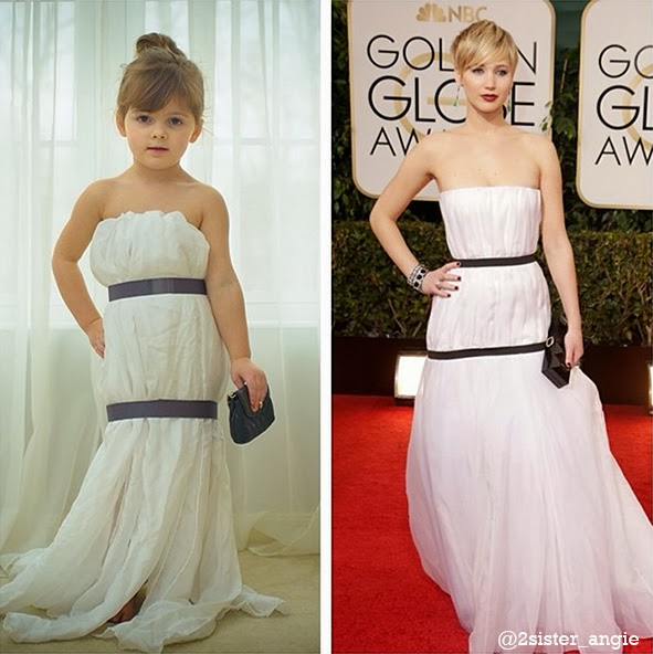 Jennifer Lawrence's Dior dress at the Golden Globes