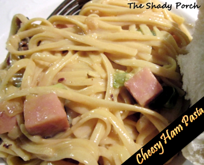 Cheesy Pasta with Ham #pasta #recipe #ham #30minutemeal