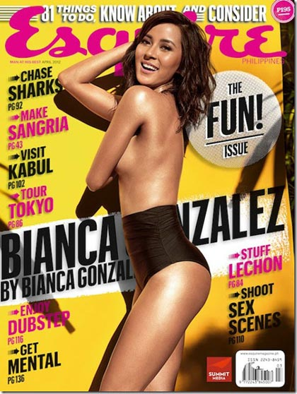 Bianca Gonzales Esquire Cover April 2012