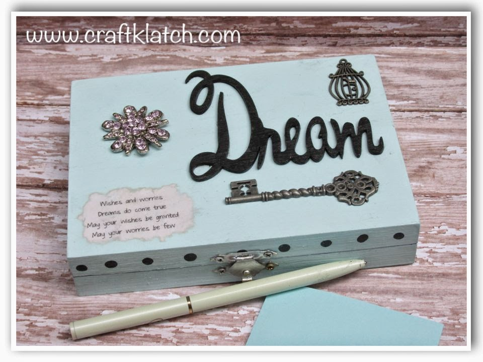 Craft klatch diy dream wish worry box for Craft gifts for friends