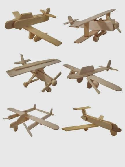 Ide Kreatif Cara membuat pesawat mainan dari stik es cream