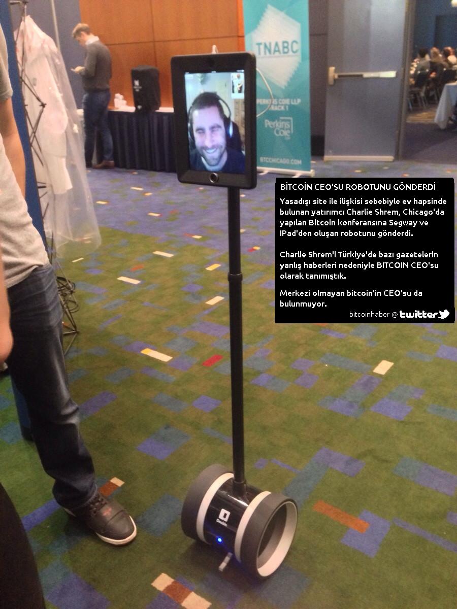 bitcoin ceo'su robotunu gonderdi