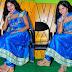 Reena in Sky Blue Silk Salwar Kameez