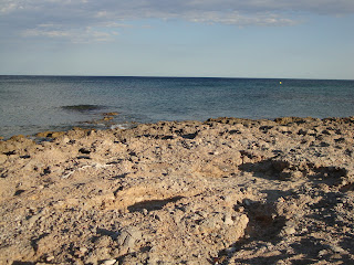 L'Arenalet Sea landscape and rocks