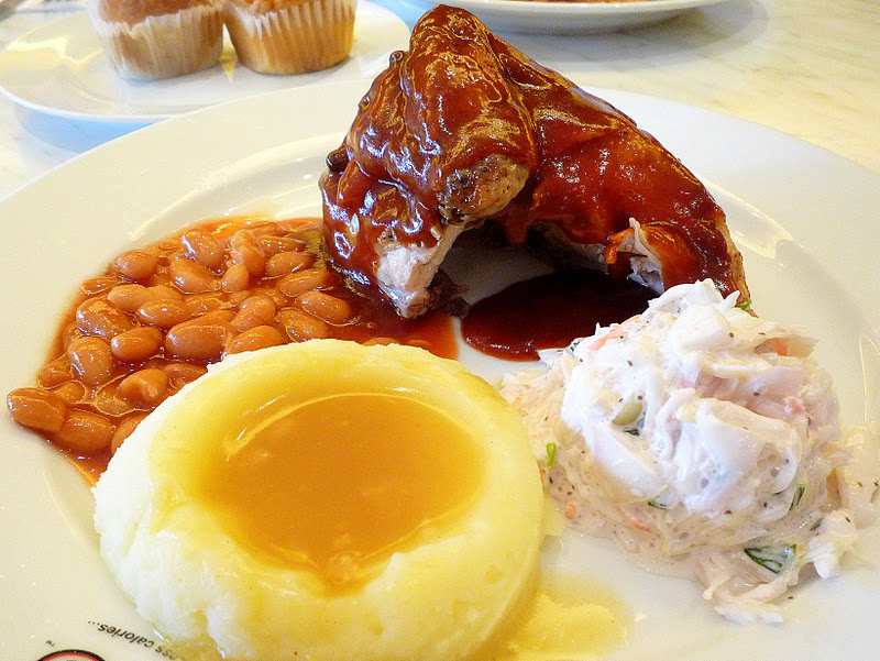 A coffeeholic 39 s travel tale kenny rogers roasters 39 s red day for Side dishes to go with smoked chicken
