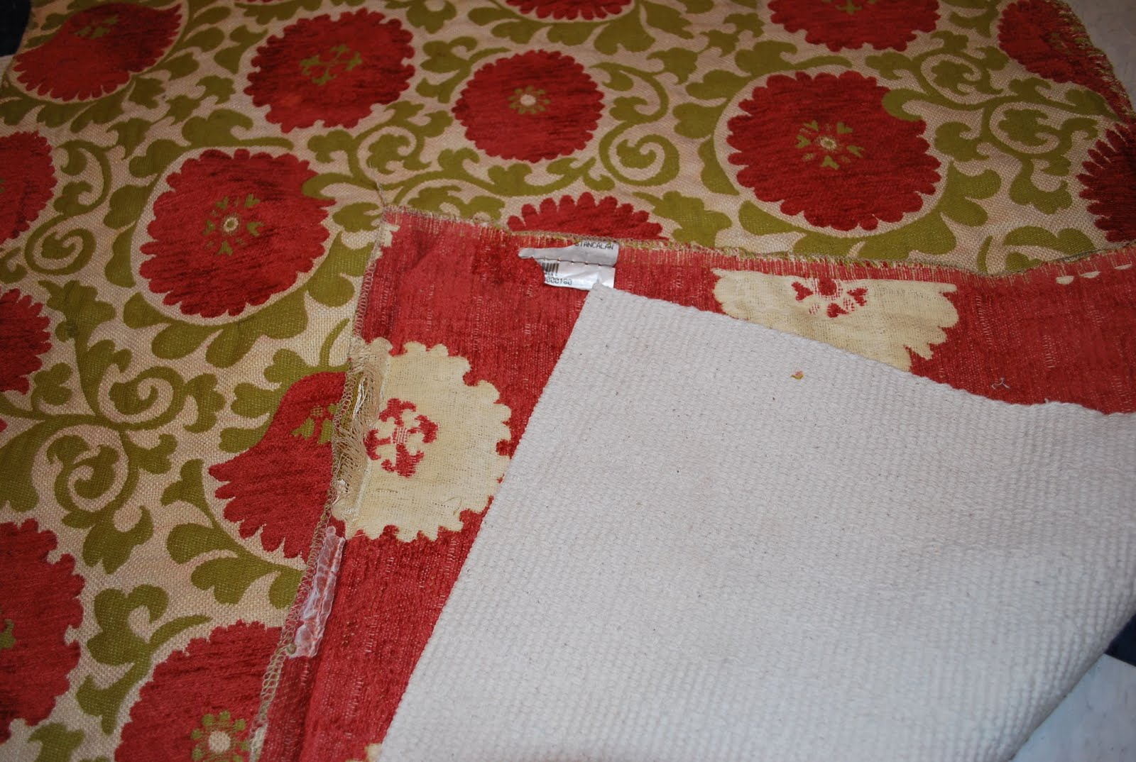 Fabric Rug Diy Make A 1hour Project Throw Rug From Upholstery Fabric Sweetwater