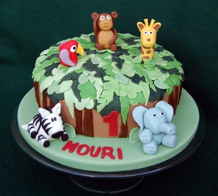 Vanilla Frost: Jungle Animals Birthday Cake