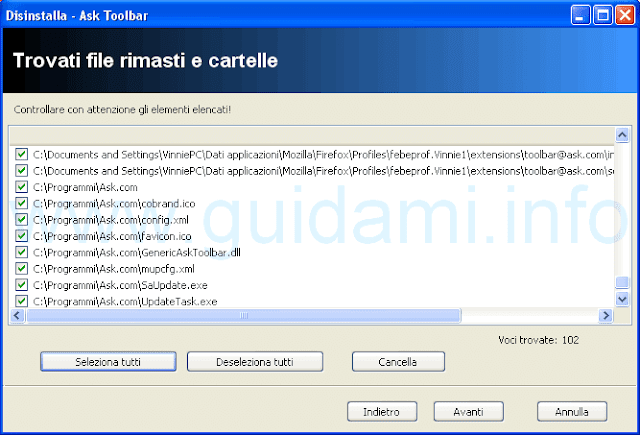 Revo Uninstaller file e cartelle rimasti
