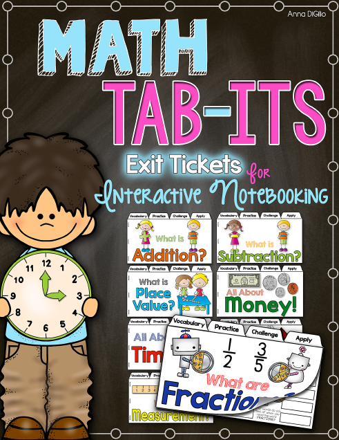 http://www.teacherspayteachers.com/Product/Math-Tab-Its-Exit-Books-for-Interactive-Notebooks-1361321
