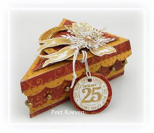 Xmas Cake Slice box