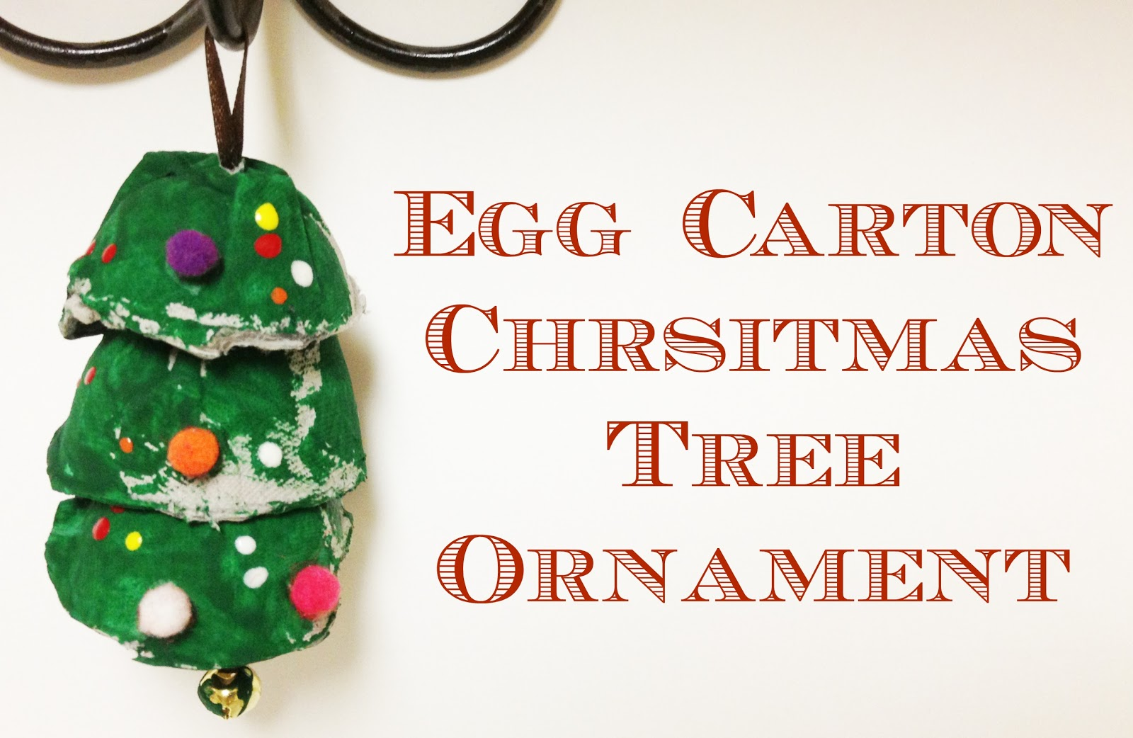 Tutus and tea parties egg carton christmas tree ornament for Christmas decorations using egg cartons