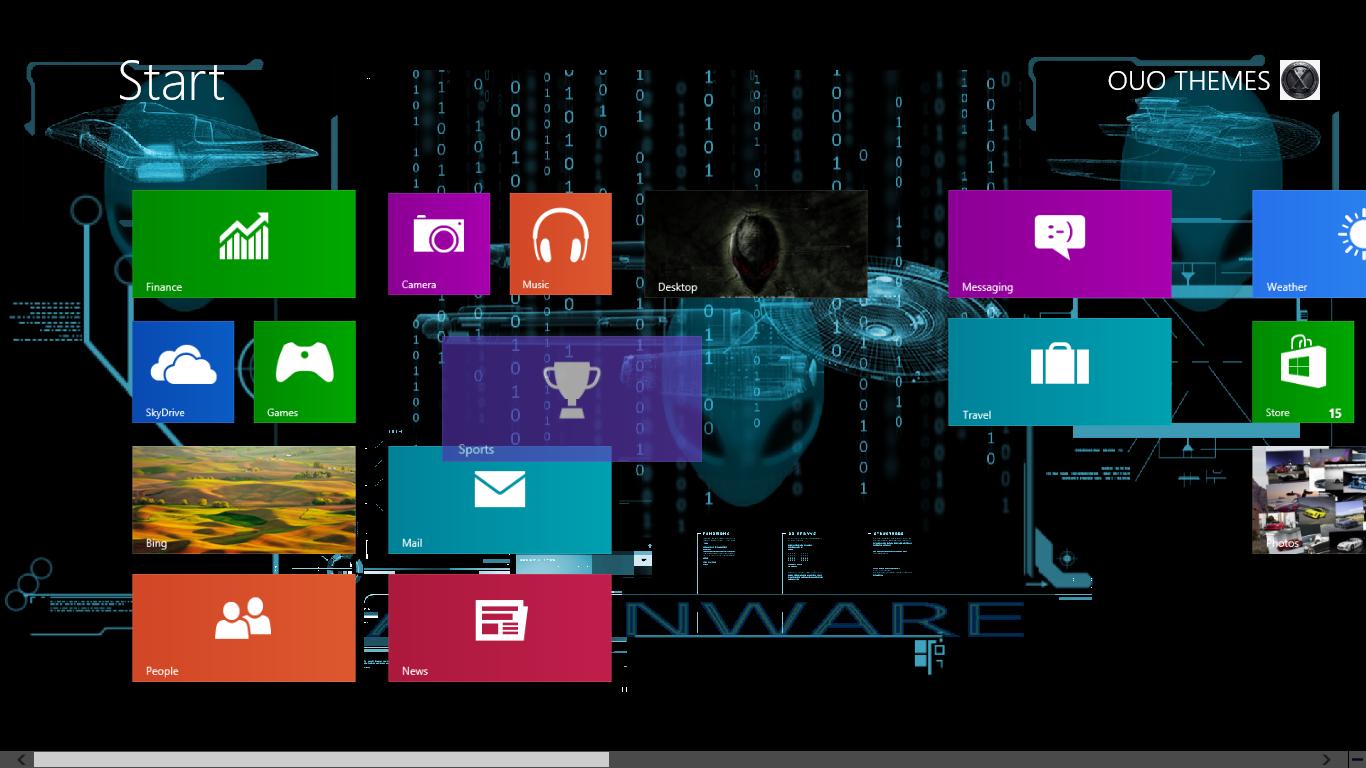 2013 alienware theme for windows 7