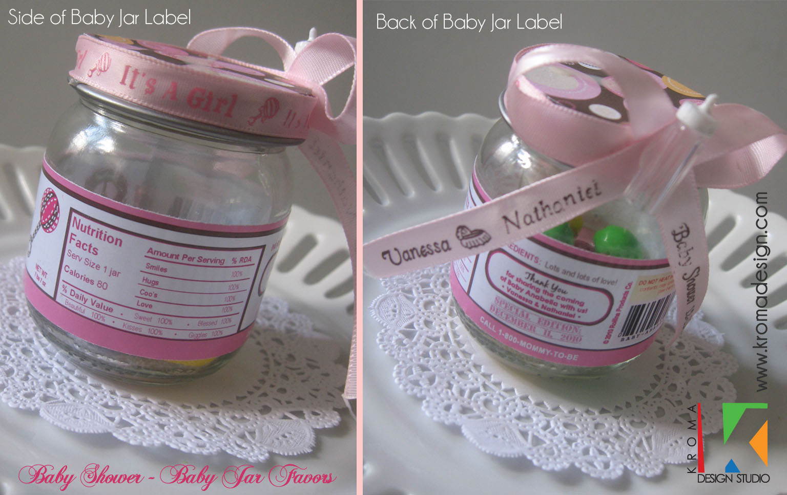 {Baby Showers} DIY Printable Baby Jar Label Favors for