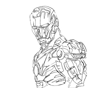 #11 Iron Man Coloring Page