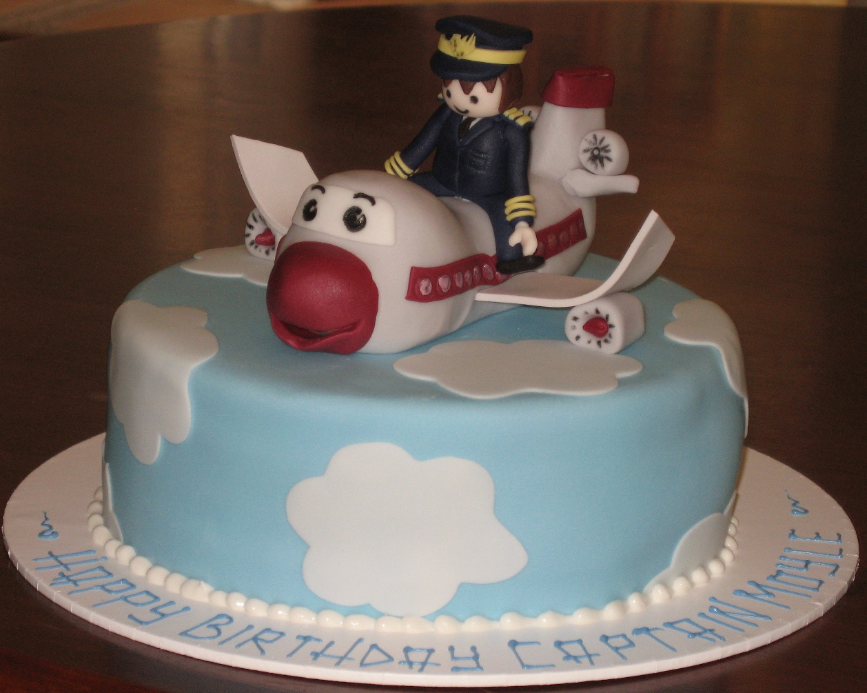 Let Them Eat Cake Airplane With Pilot