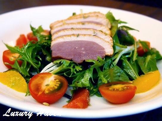 parsley thyme restaurant smoked duck salad