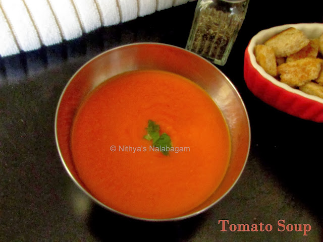 Thick Tomato Soup Indian Style