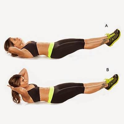 تمرين لشد عضلات البطن والفخذين